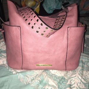 Pink Steve Madden handbag.